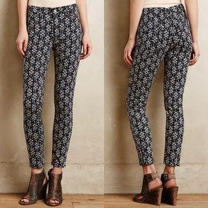 Pilcro Serif ikat sateen skinny jeans